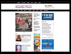Republic-Times Newspaper | Christine Otten | Website and Graphic Design