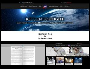 Christine Otten | Website and Graphic Design | Return to Flight - Dr. James F. Peters