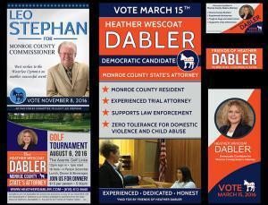 Political Ads Print Materials